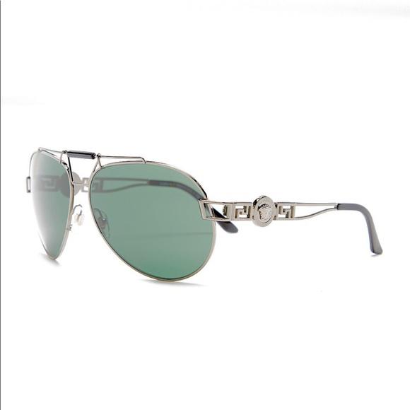 d22157cdea5 NEW Versace Medusa Rock Icon Aviator Sunglasses